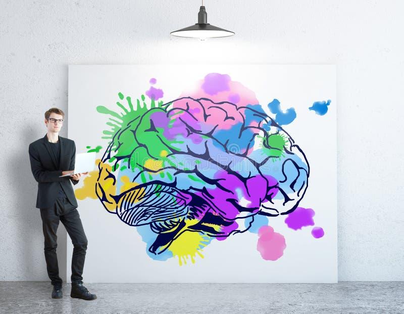 Hersenen en flitsen stock afbeelding