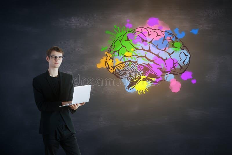 Hersenen en flitsen royalty-vrije stock afbeelding