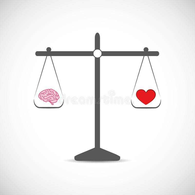 Hersenen en haard in evenwicht royalty-vrije illustratie