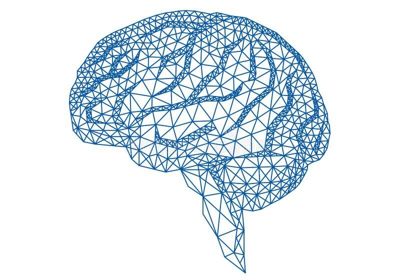 Hersenen met geometrisch patroon, vector royalty-vrije illustratie