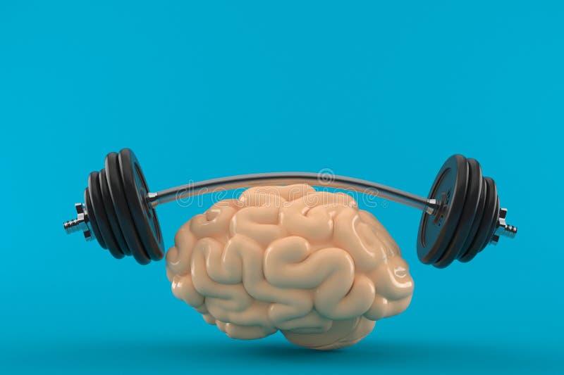 Hersenen opleidingsconcept royalty-vrije illustratie