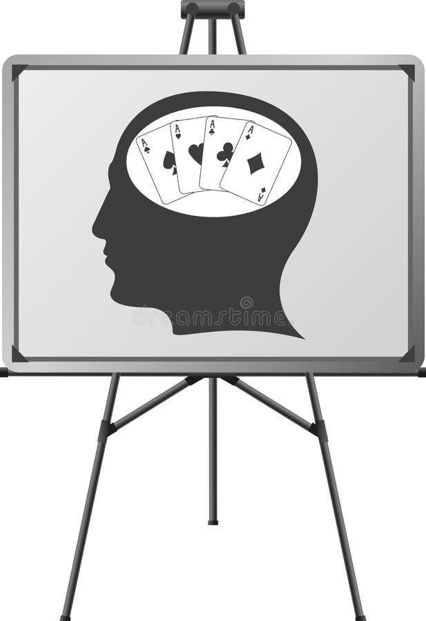 Hersenen van een speler royalty-vrije illustratie