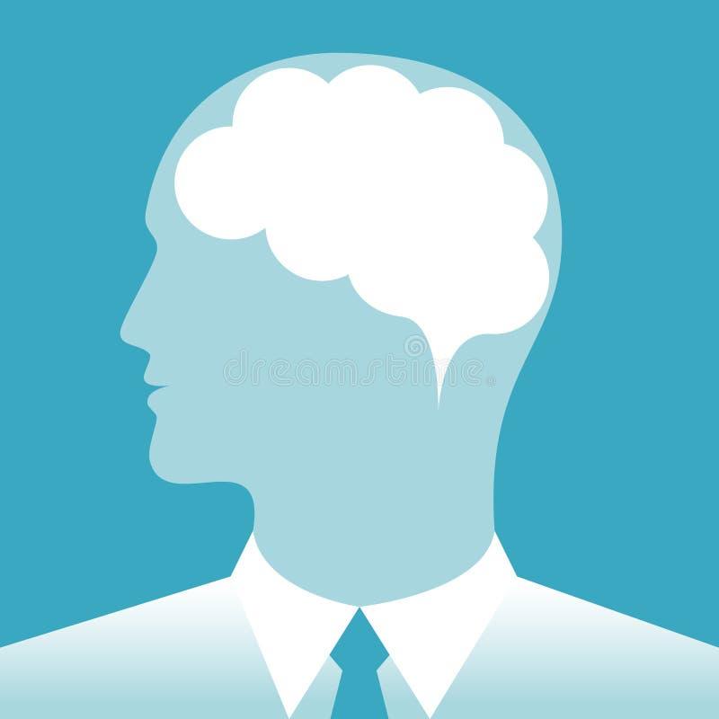 Hersenen van een zakenman vector illustratie