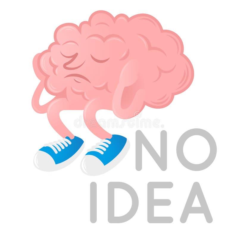 Hersenen zonder idee stock illustratie