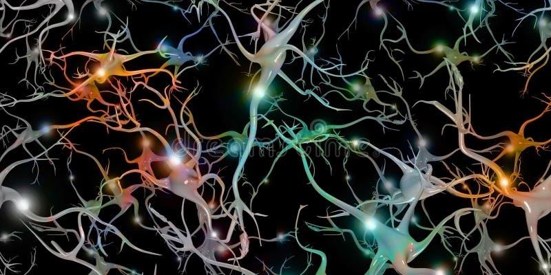 Hersenencellen royalty-vrije illustratie
