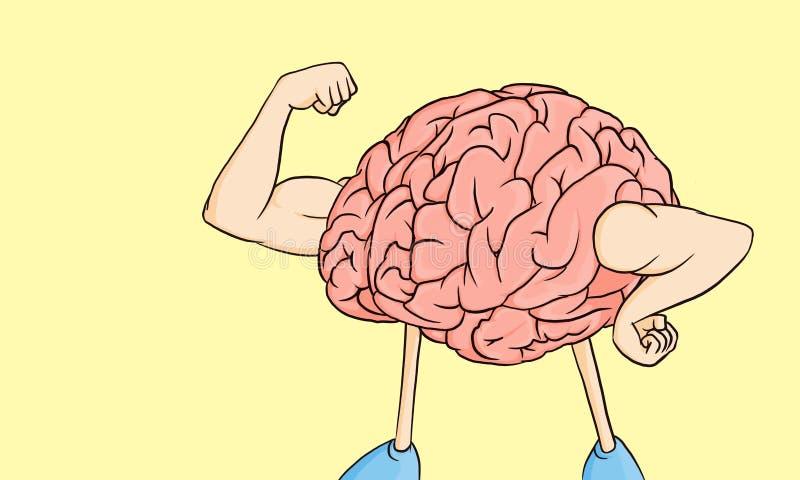 Hersenenmacht! vector illustratie