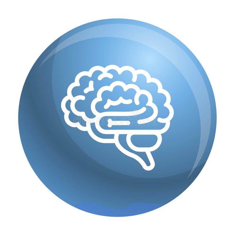 Hersenenpictogram, overzichtsstijl vector illustratie