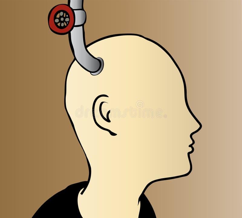 Hersenenvoedsel vector illustratie