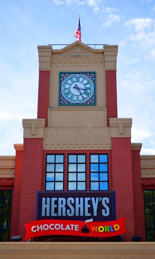 Hershey ` s światu Czekoladowy wierza zdjęcie stock