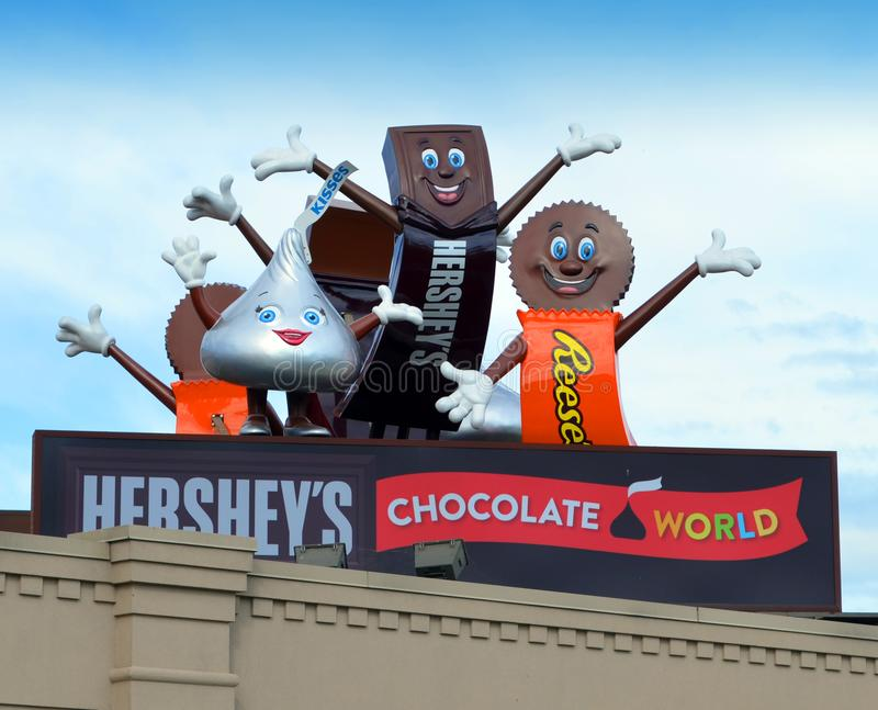 Hershey`s Chocolate World royalty free stock photos