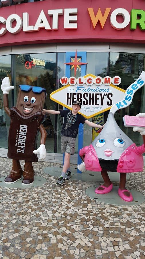 Hershey& x27; s Wereldberoemde Chocoladewinkel in Las Vegas royalty-vrije stock fotografie