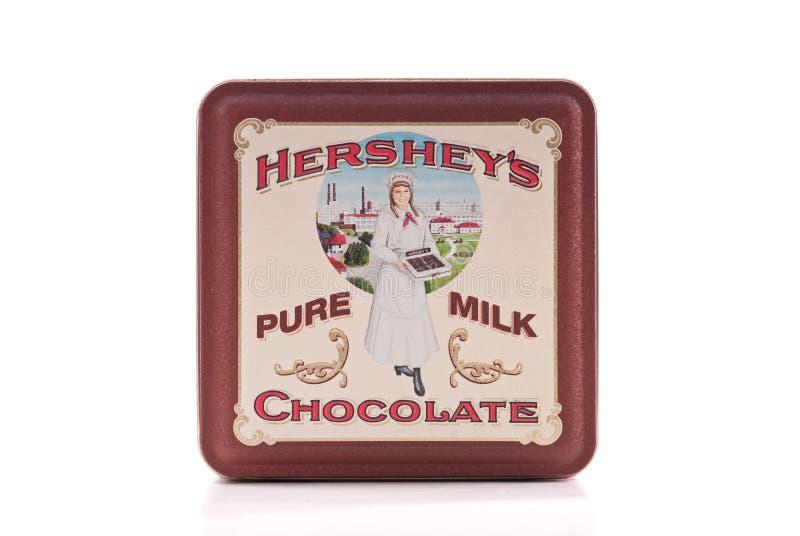 Hersheys Vintage Tin stock images