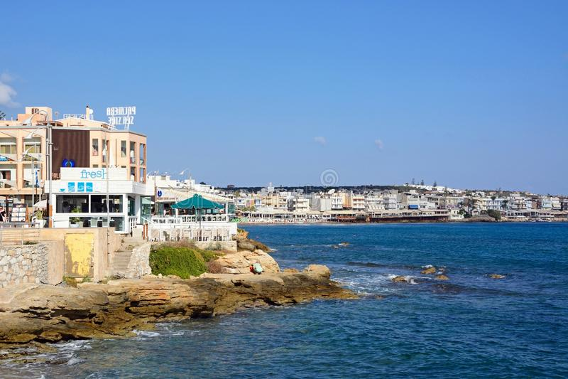 Hersonissos Coastline. royalty free stock photo