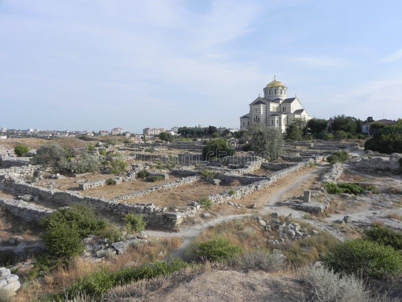 Hersonissos, kościół zdjęcia stock