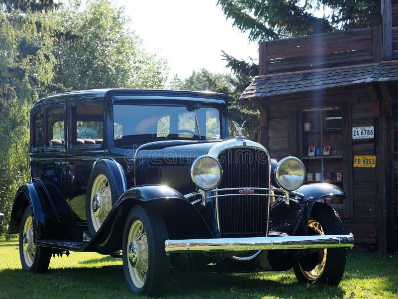 Hersteld Antiek Oldsmobile met Spoked-Wielen stock foto's