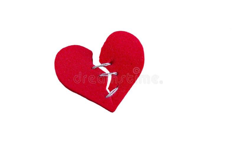 Hersteld hart op wit royalty-vrije stock afbeelding