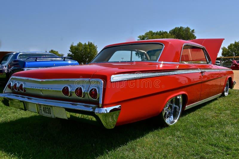 Herstelde 1962 Rood Chevy Impala royalty-vrije stock afbeeldingen