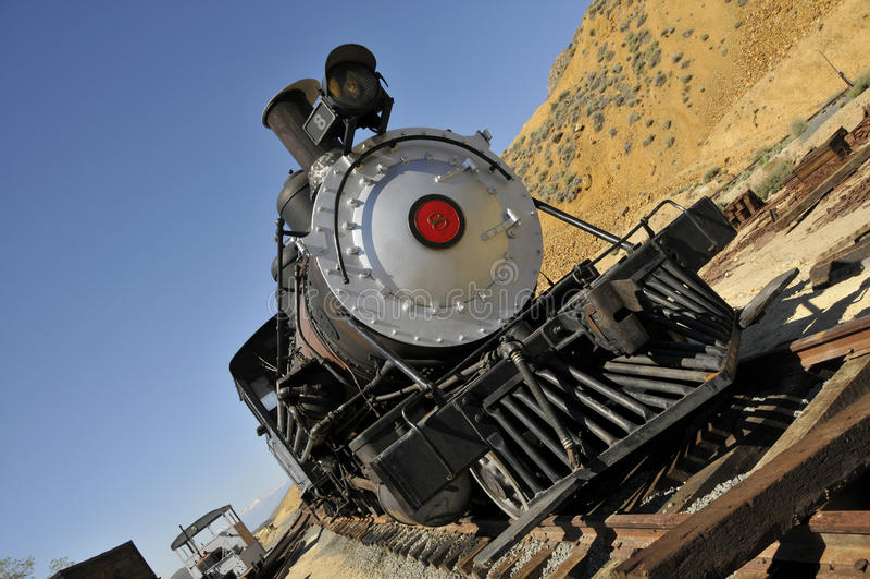 Herstelde Uitstekende Locomotief stock foto