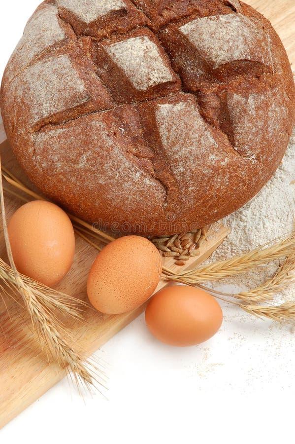 Herstellung des Brotes stockbild