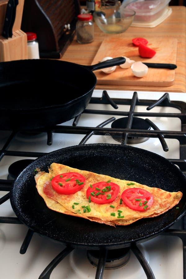 Herstellung des Frühstücks stockfoto