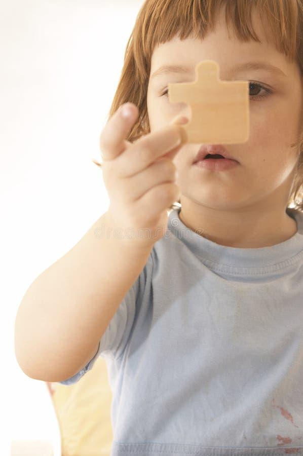 Herstellung des Puzzlespiels stockfotografie