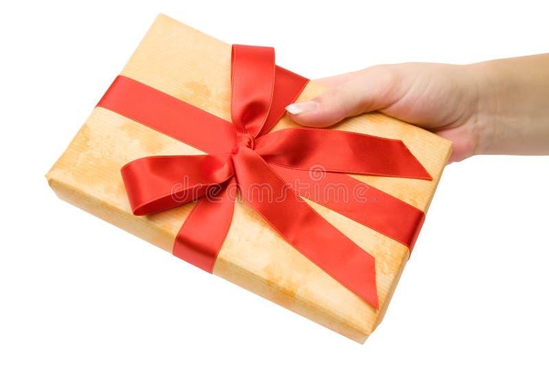 Herstellung eines Geschenks stockfoto
