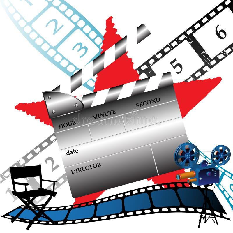 Herstellung von Filmen stock abbildung
