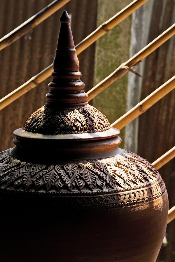Herstellung von Tonwaren auf dem lokalen Gebiet, Ko-kret, Nonthaburi stockbild