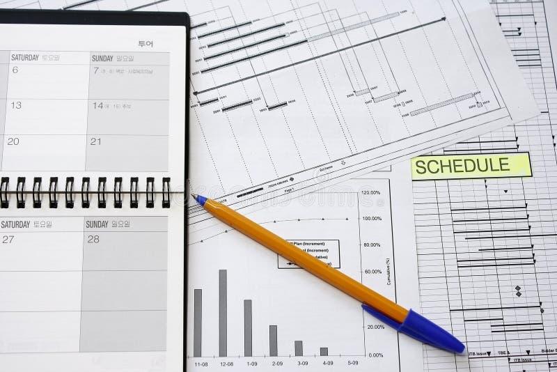 Herstellungs-Projekt-Zeitplan lizenzfreie stockfotos
