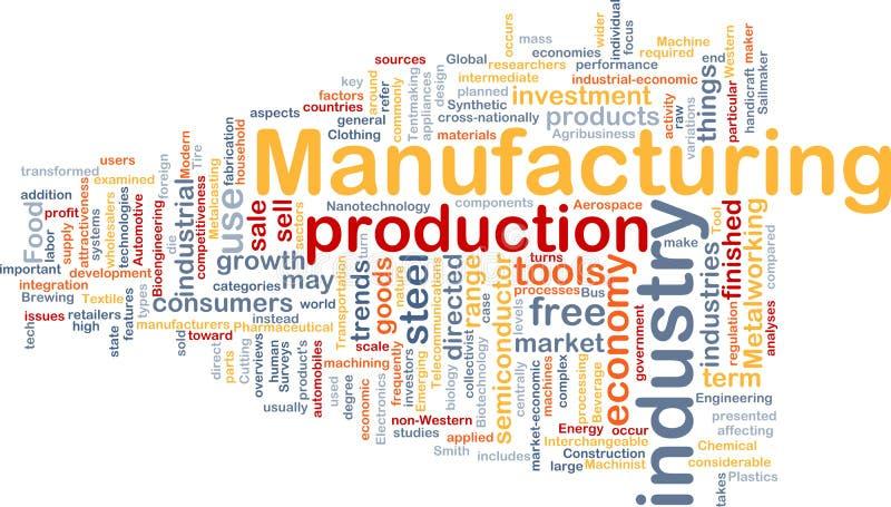 Herstellungshintergrundkonzept stock abbildung