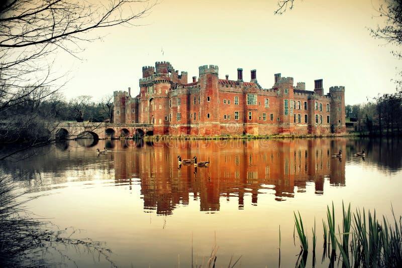 HERSTMONCEUX KASTEEL Sussex Engeland royalty-vrije stock fotografie