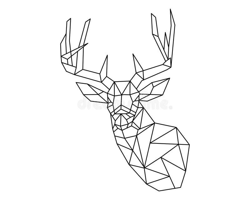 Herten hoofdveelhoek royalty-vrije illustratie