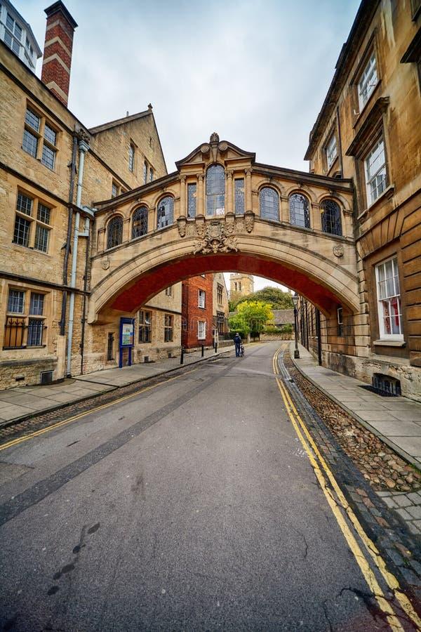 Hertfordbrug of de Brug van sighs De Universiteit van Oxford oxford engeland royalty-vrije stock foto
