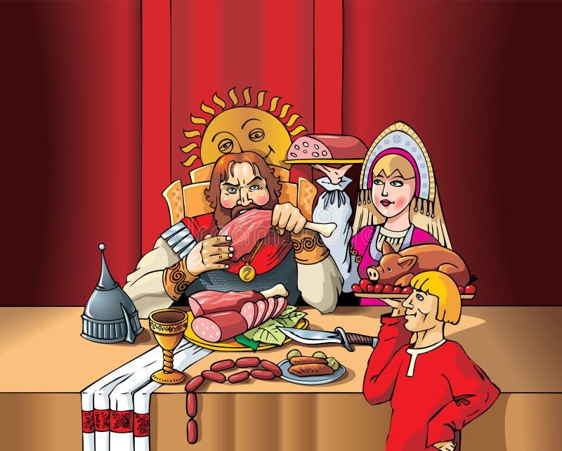hertigfestmåltid s vektor illustrationer