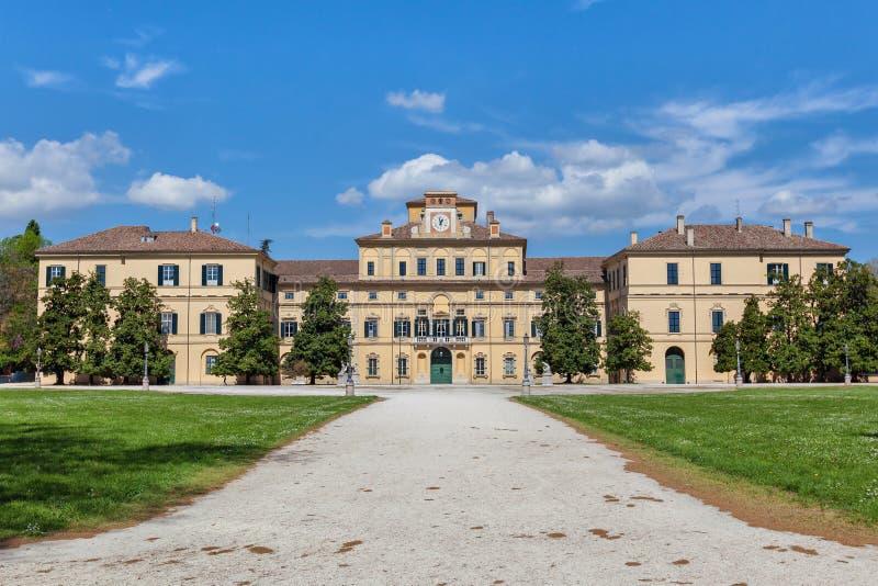 Hertiglig slott i Parma, Italien arkivbild