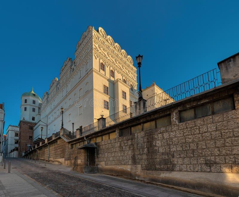 Hertiglig slott i Szczecin poland royaltyfri fotografi