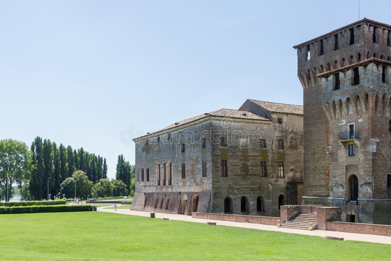 Hertiglig slott, Mantua Italien arkivbild