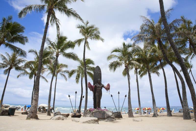 Hertog Paoa in Waikiki royalty-vrije stock afbeelding