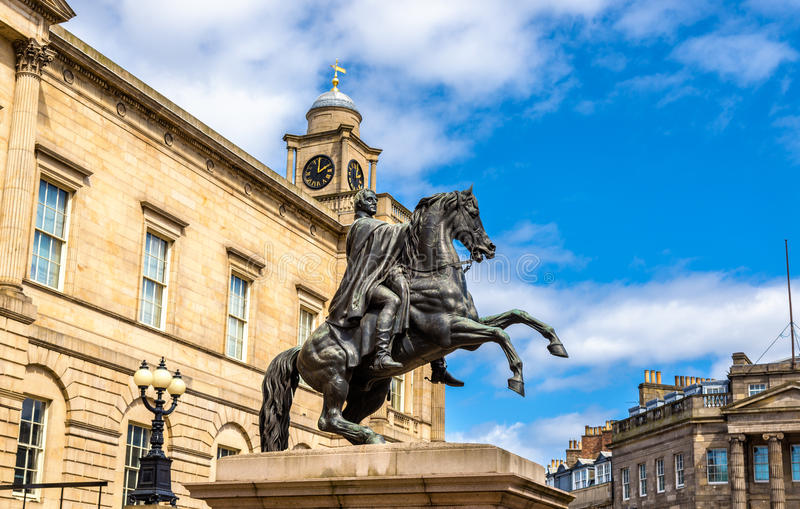 Hertog van Wellington Statue in Edinburgh stock fotografie