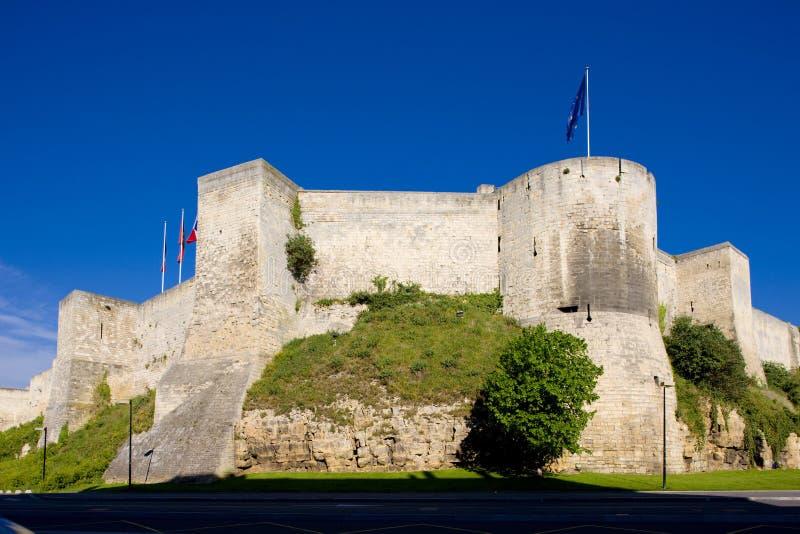 Hertogelijk Kasteel, Caen, Normandië, Frankrijk royalty-vrije stock foto's