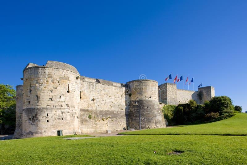 Hertogelijk Kasteel, Caen, Normandië, Frankrijk royalty-vrije stock fotografie