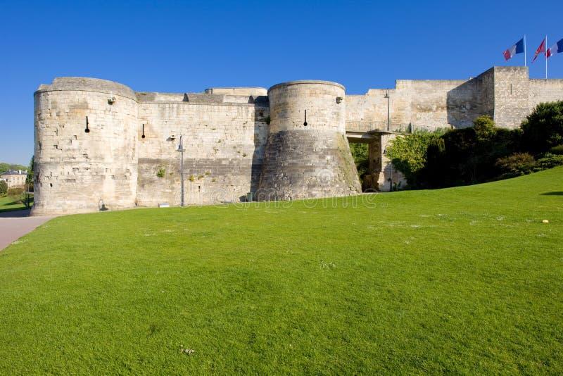 Hertogelijk Kasteel, Caen, Normandië, Frankrijk stock afbeelding