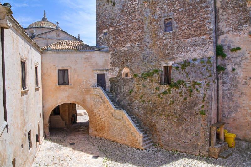 Hertogelijk kasteel. Ceglie Messapica. Puglia. Italië. stock afbeelding