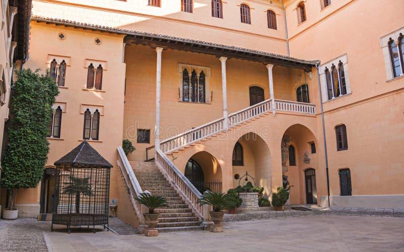 Hertogelijk Paleis Borgia in Gandia, Costa Blanca, Spanje royalty-vrije stock afbeeldingen