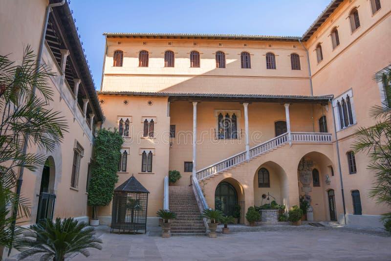 Hertogelijk Paleis Borgia in Gandia, Costa Blanca, Spanje stock foto