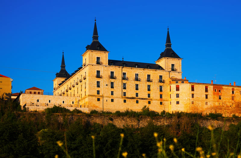 Hertogelijk paleis in Lerma royalty-vrije stock afbeelding