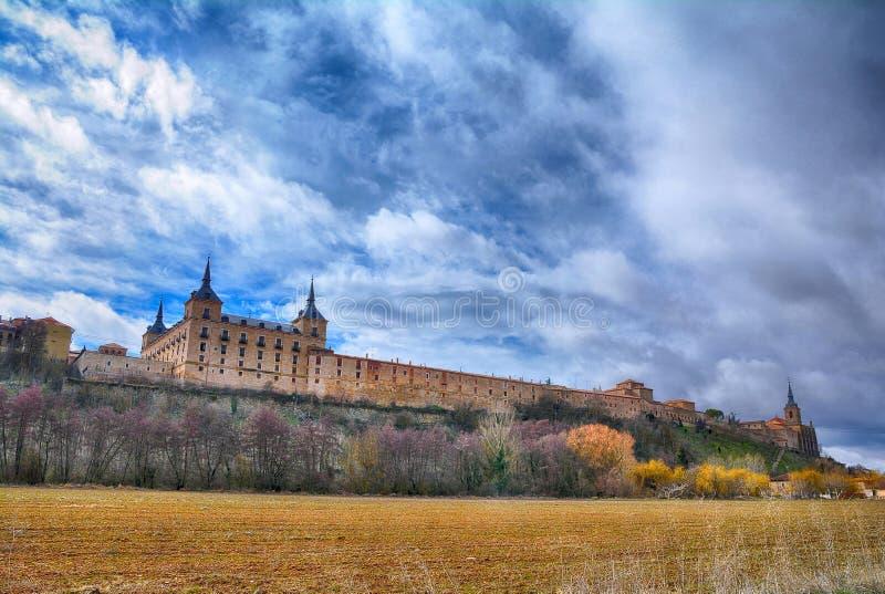 Hertogelijk paleis in Lerma, Castilla en Leon spanje stock afbeelding