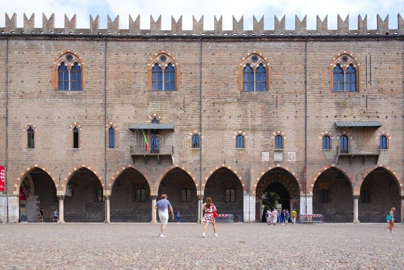 Hertogelijk Paleis in Mantua royalty-vrije stock foto