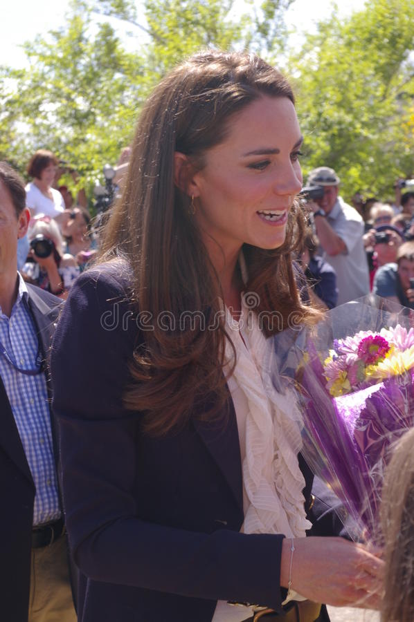 Hertogin van Cambridge - Kate Middleton stock foto
