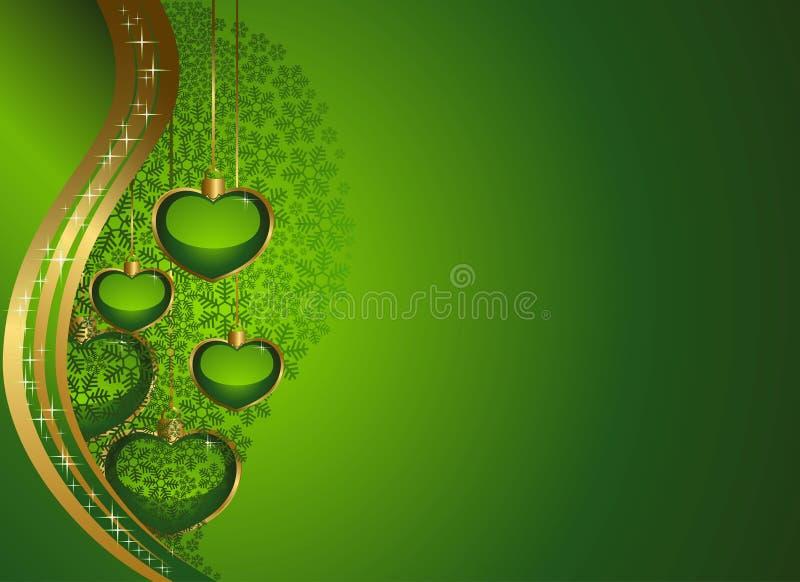 Herts em um fundo verde ilustração stock